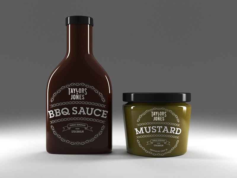 Packaging Mustard  & BBQ